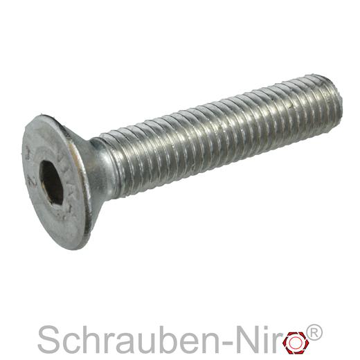 10 Edelstahl Senkkopf-Schrauben  M10x50  DIN7991  V2A Vollgewinde