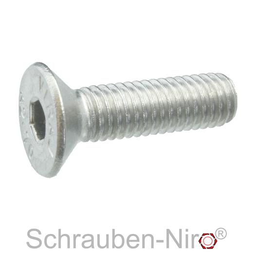 Senkschrauben D/´s Items/® DIN 7991 Vollgewinde V2A 50 St/ück - Edelstahl A2 - ISK M3x6 u Senkkopfschrauben mit Innensechskant